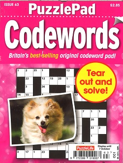 PUZZLE LIFE PPAD CODEWORDS Magazine