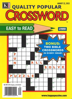 QUALITY POPULAR CROSSWORD PUZZLES