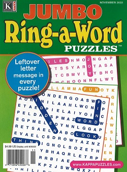 SPECIAL! RING-A-WORD DOUBLE LARGE PRINT