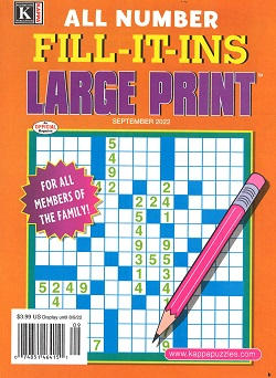 ALL NUMBER FILL-IT-INS LARGE PRINT