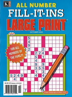 ALL NUMBER FILL-IT-INS LARGE PRINT Magazine