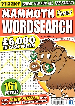 PUZZLER MAMMOTH FAMILY WORDSEARCH Magazine