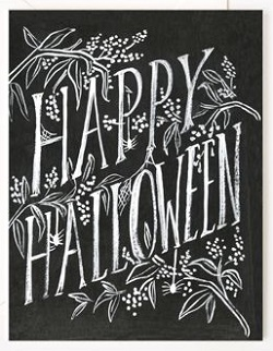 Happy Halloween Scratchy Card