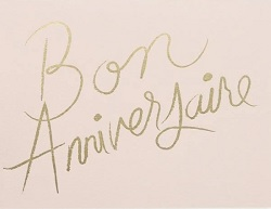 Bon Anniversaire Birthday Card Magazine