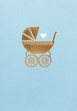 Baby Blue Pram Card Magazine